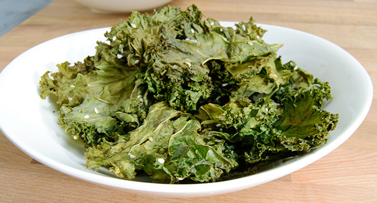 Coconut Sesame Kale Chips