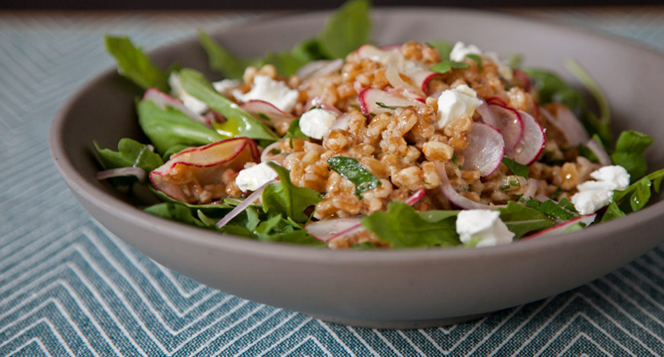 Farro Salad with Cucumber & Mint